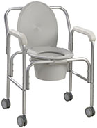 Drive Medical Aluminum Commode with Wheels