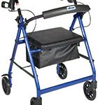 Drive Medical Aluminum Rollator, 6inch Casters
