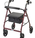 Drive Medical Aluminum Rollator, 7.5inch Casters.
