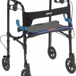 Drive Medical Clever-Lite Walker, Adult, with 8inch Casters