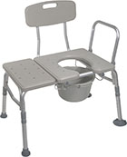 Drive Medical Combination Transfer Bench, Commode