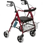 Roscoe Medical Deluxe Rollator 8 inch wheel curved